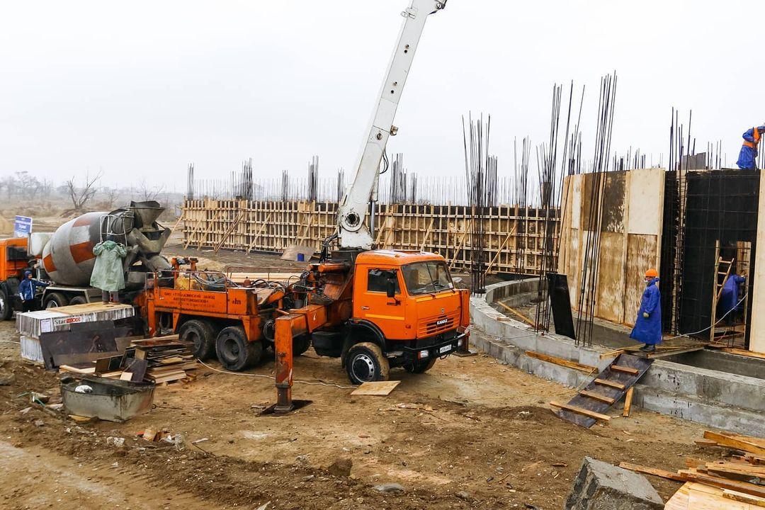 """Строительство дома танца ансамбля """"Лезгинка"""""""