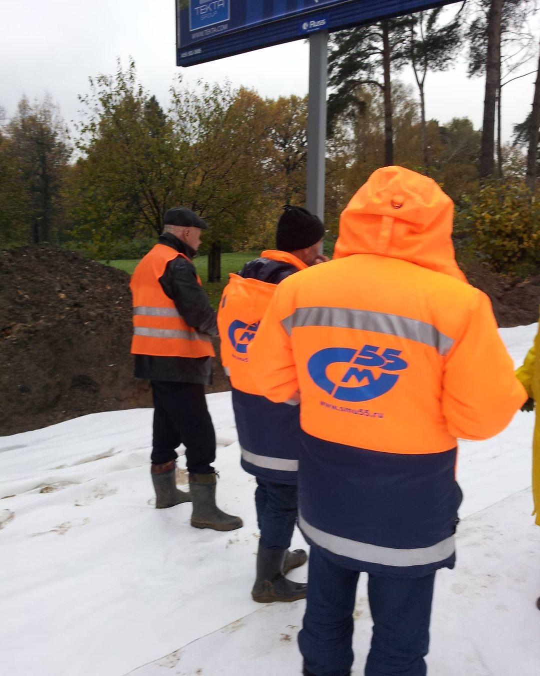 Строительство развязки Сколково на Минском шоссе