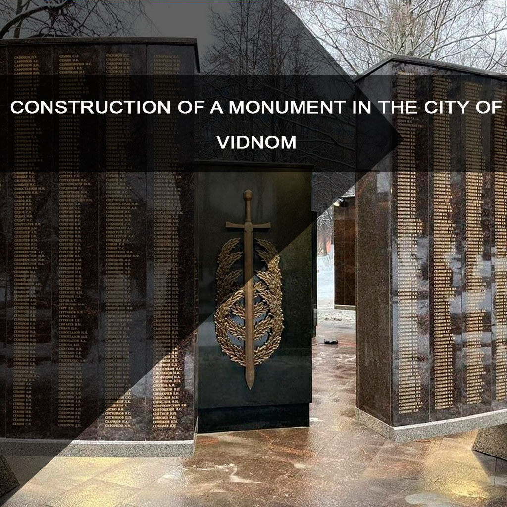 Construction of a monument in the city of Vidnom